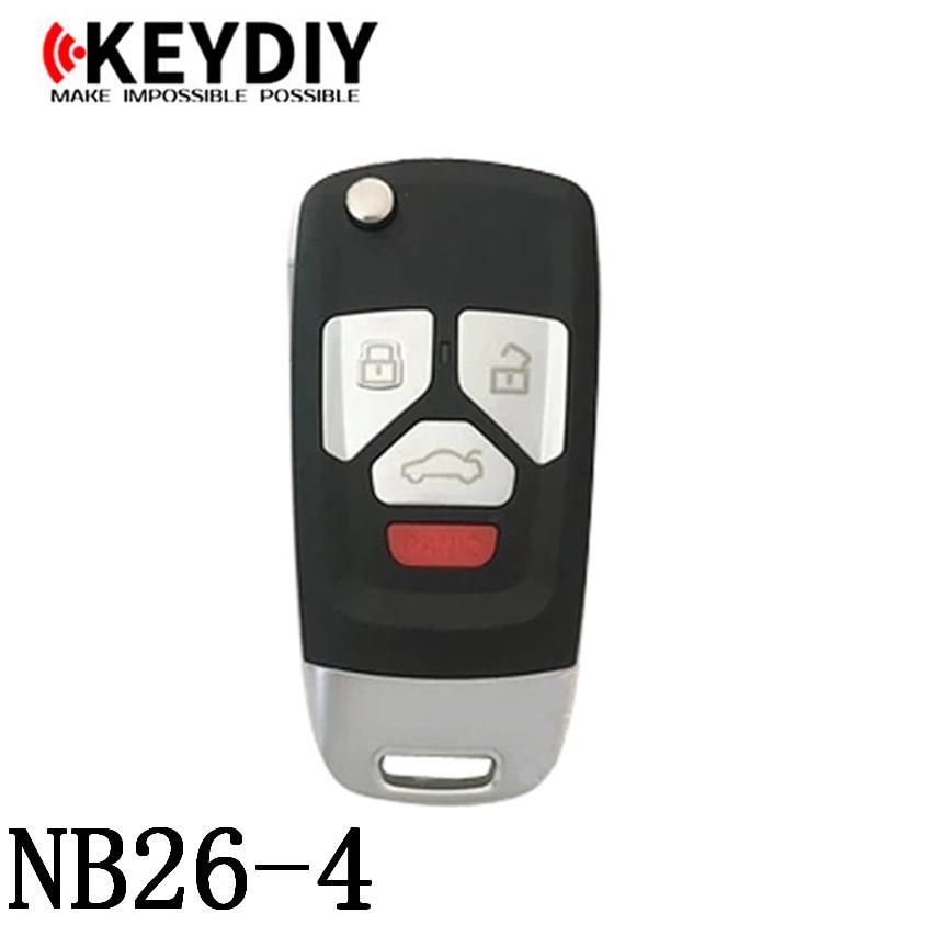 KEYDIY NB série NB26-4 chave remota multifuncional para KD300 e KD900 para produzir qualquer modelo remoto