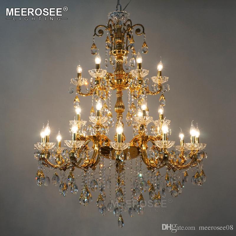 ثريا كريستال فاخرة كبيرة ذهبية فضية اللون كريستال الثريات الخفيفة لاعبا اساسيا للفندق مطعم بهو المنزل