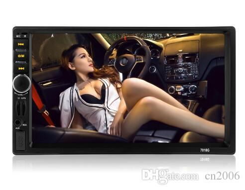 7018G 2 Din Car Multimedia Player+GPS Navigation+Camera Map 7'' HD Touch Screen Bluetooth Autoradio MP3 MP5 Video car Stereo Radio