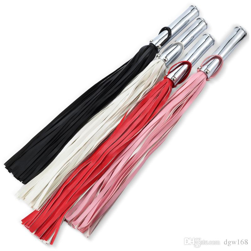 New PU Leather Whip Flogger Ass Spanking Metal Anal Butt Plug Anus Massager Bondage Slave In Adult Games Fetish Sex Toys For Couples