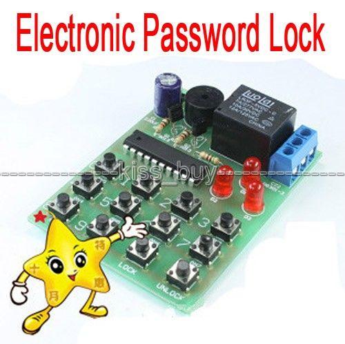 Freeshipping 2pcs/lot Simple Electronic Password Lock Circuit DIY Learning Kits