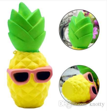 Этмакит хлюпает Каваи мягкая игрушка ананас форма медленный рост снимает стресс игрушка для детей взрослых беспокойство внимание