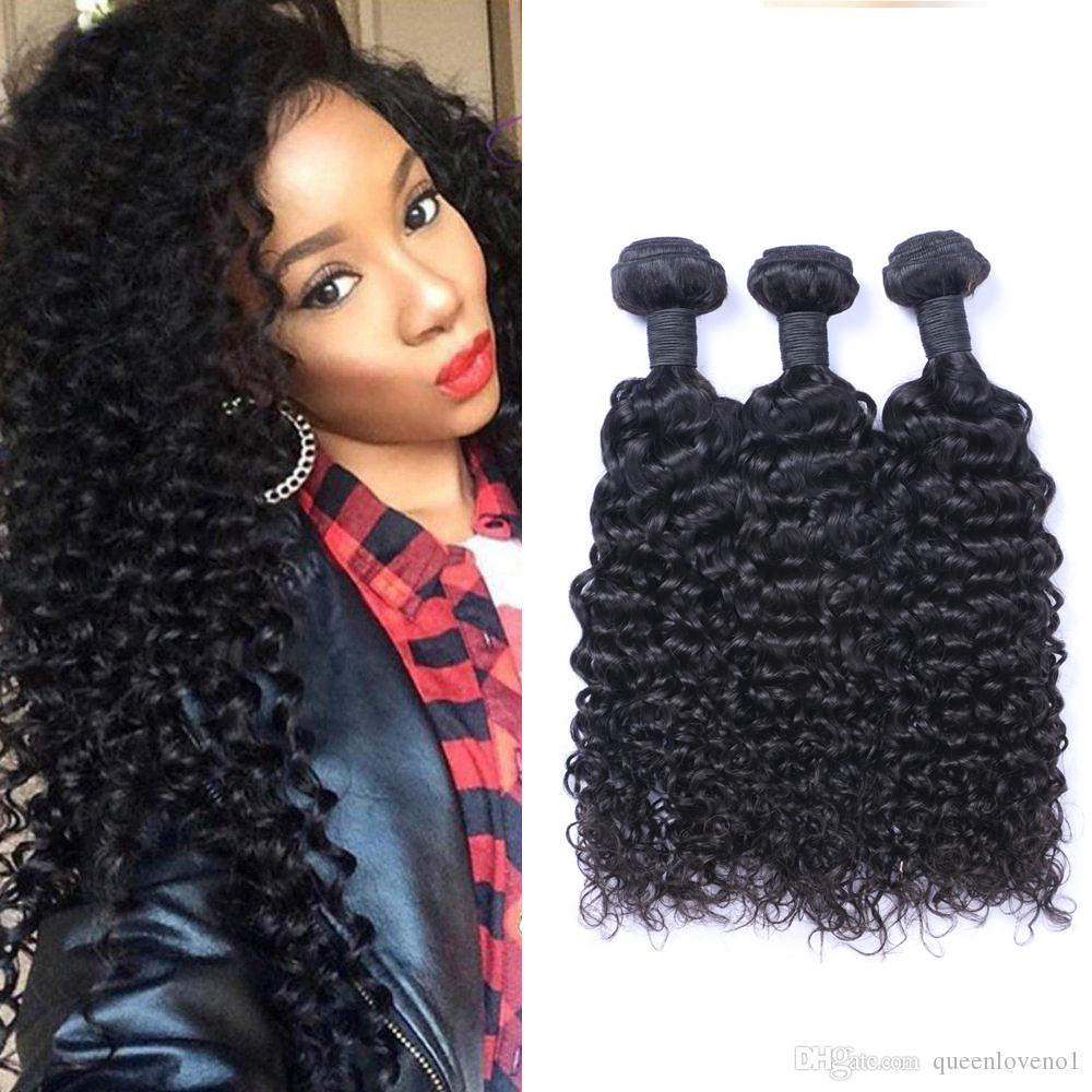 indian jerry curl 100% unprocessed human virgin hair weaves remy human hair  extensions human hair weaves dyeable 3 bundles skin weft seamless hair