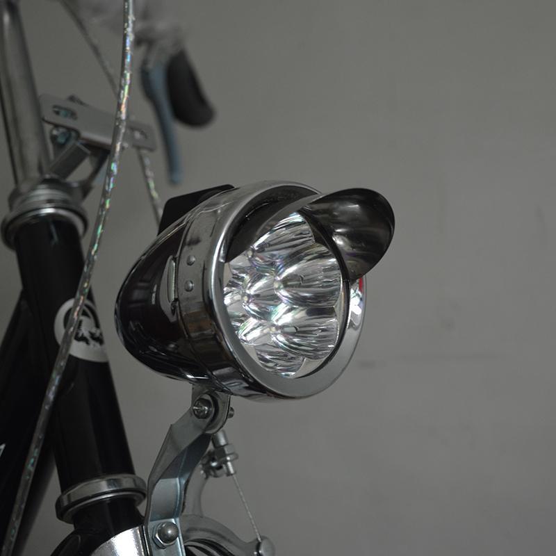 6 CONDUZIU a Concha De Metal Super Leve Velho Estilo Clássico Do Vintage Vntga Retro Bicicleta Farol Frente Frete Grátis