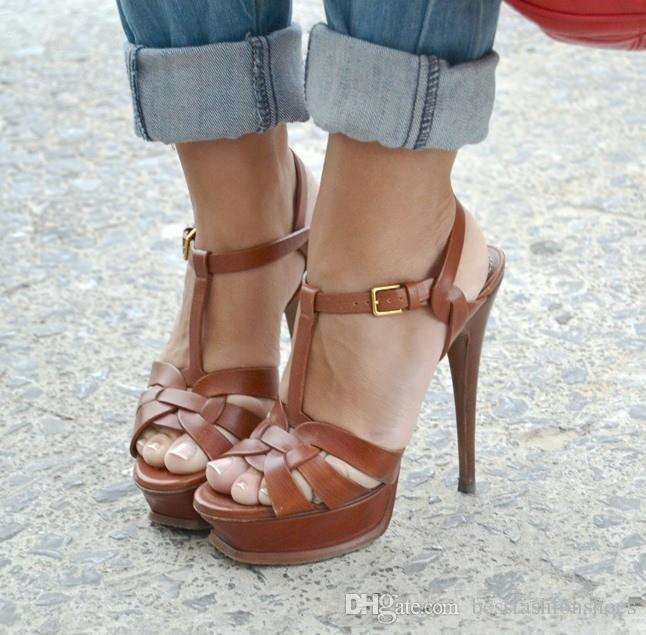 Sommer Straße SandalenTribute Plattform Sandalen Hohe marke Frauen Pumpt Offene spitze Alias Mujer Sexy Catwalk Promi Sommer Schuhe Frau