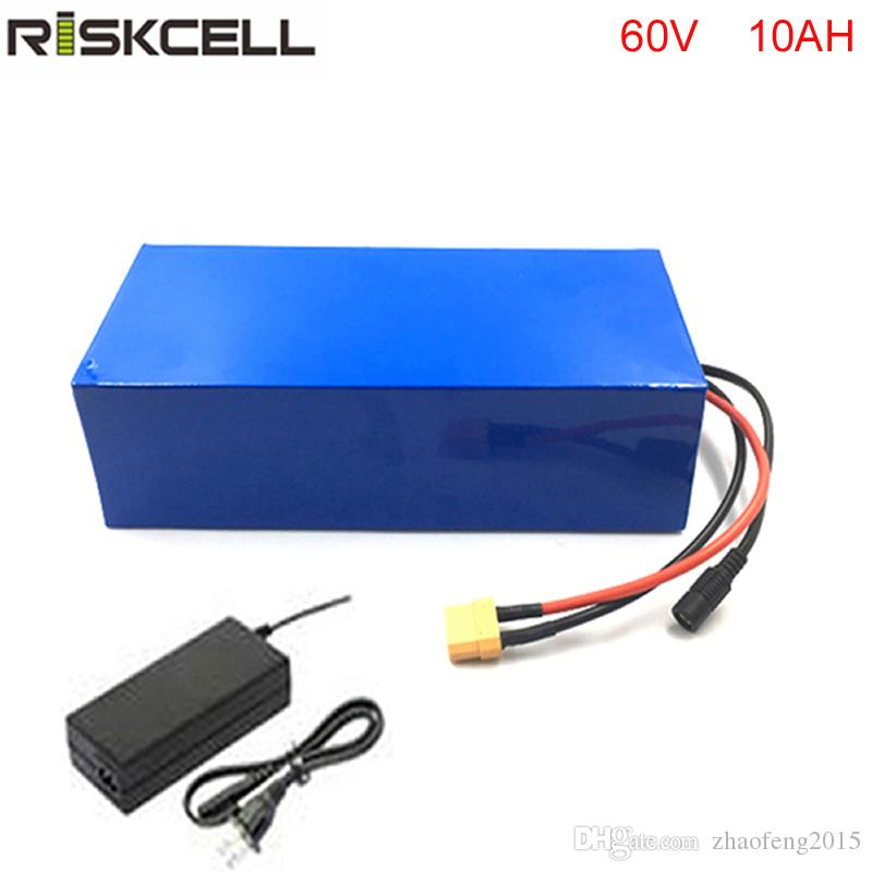 Hiçbir vergilerSüper Güç 60 V 10Ah 18650 Li-Ion Pil Paketi BMS 1000 W Unicycle Şarj BMS PVC Paketi ile