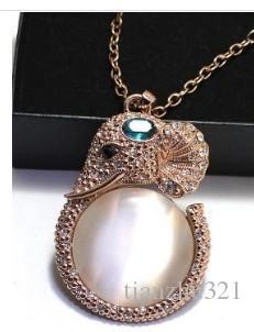 colar de olho de gato elefante de pedra da senhora (xysppfh) hfdsf