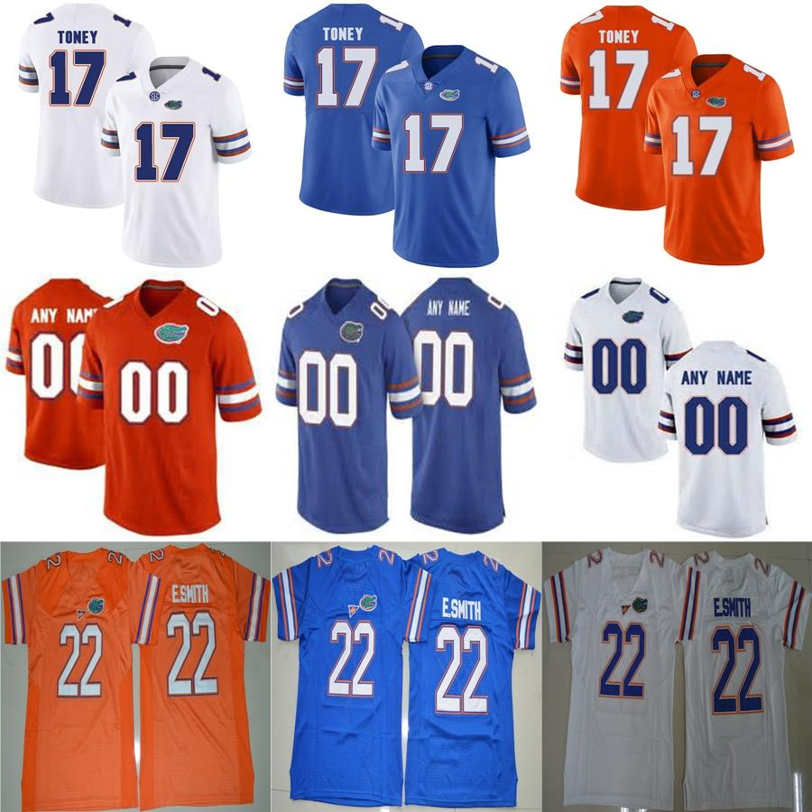 Personalizado Mens Womens Crianças Jacarés Florida 22 Emmitt Smith 13 Feleipe Franks Costurado Qualquer Nome e Número Baratos Camisas De Futebol Da Faculdade S-6XL