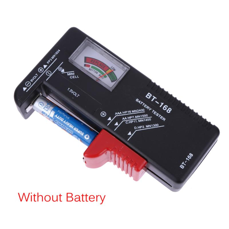 Battery Tester Universal Electronic Battery Checker for AA AAA 9V Button Cell Multi Size Volt Meter Measuring Tool BT168