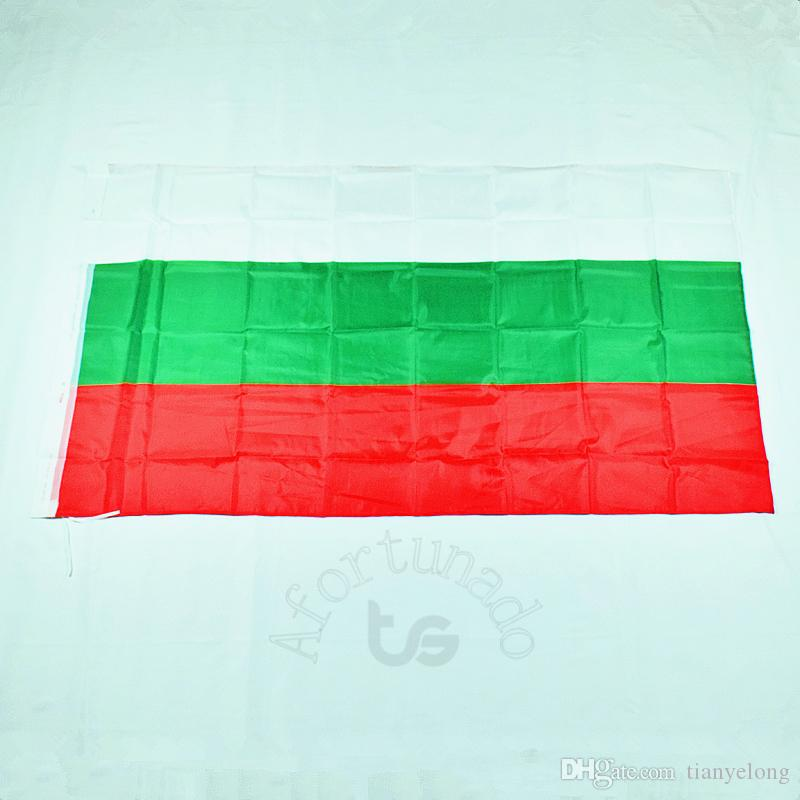 불가리아 / 불가리아 플래그 전국 무료 배송 3X5 FT / 90 * 150cm 매달려 국기 불가리아 불가리아어 홈 장식 플래그 배너