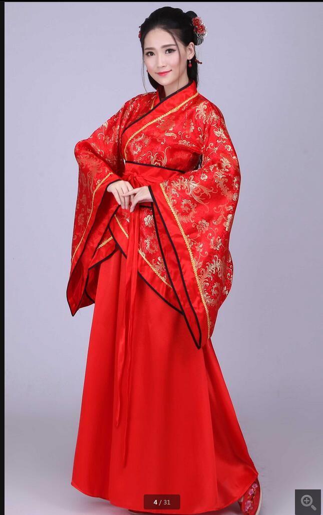 Traje Tang, ropa china Han, vestido de noche, túnica roja con falda delantera, falda Ru
