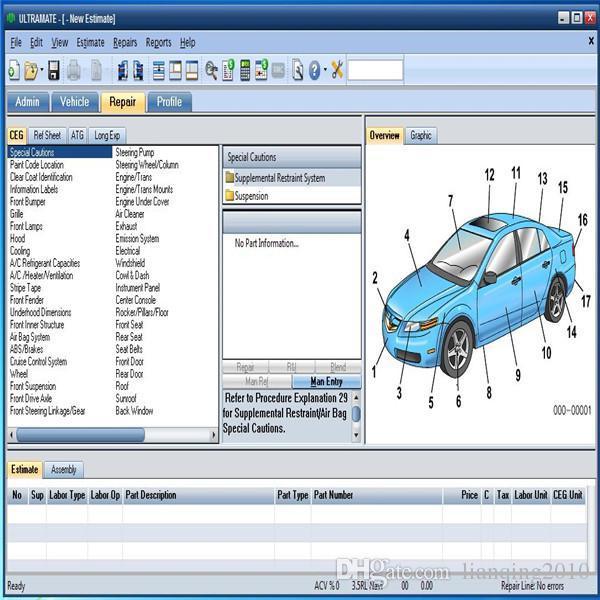 2020 Os mais recentes sistemas de patch para o carro não vencida Mitchell UltraMate 7 Collision Estimating avançado sistema de correio aéreo frete grátis