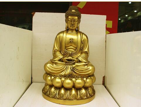 Благоприятный Лев Шакья Мани Будда свет украшения Украшения Украшения Шакья Мани Медный Будда