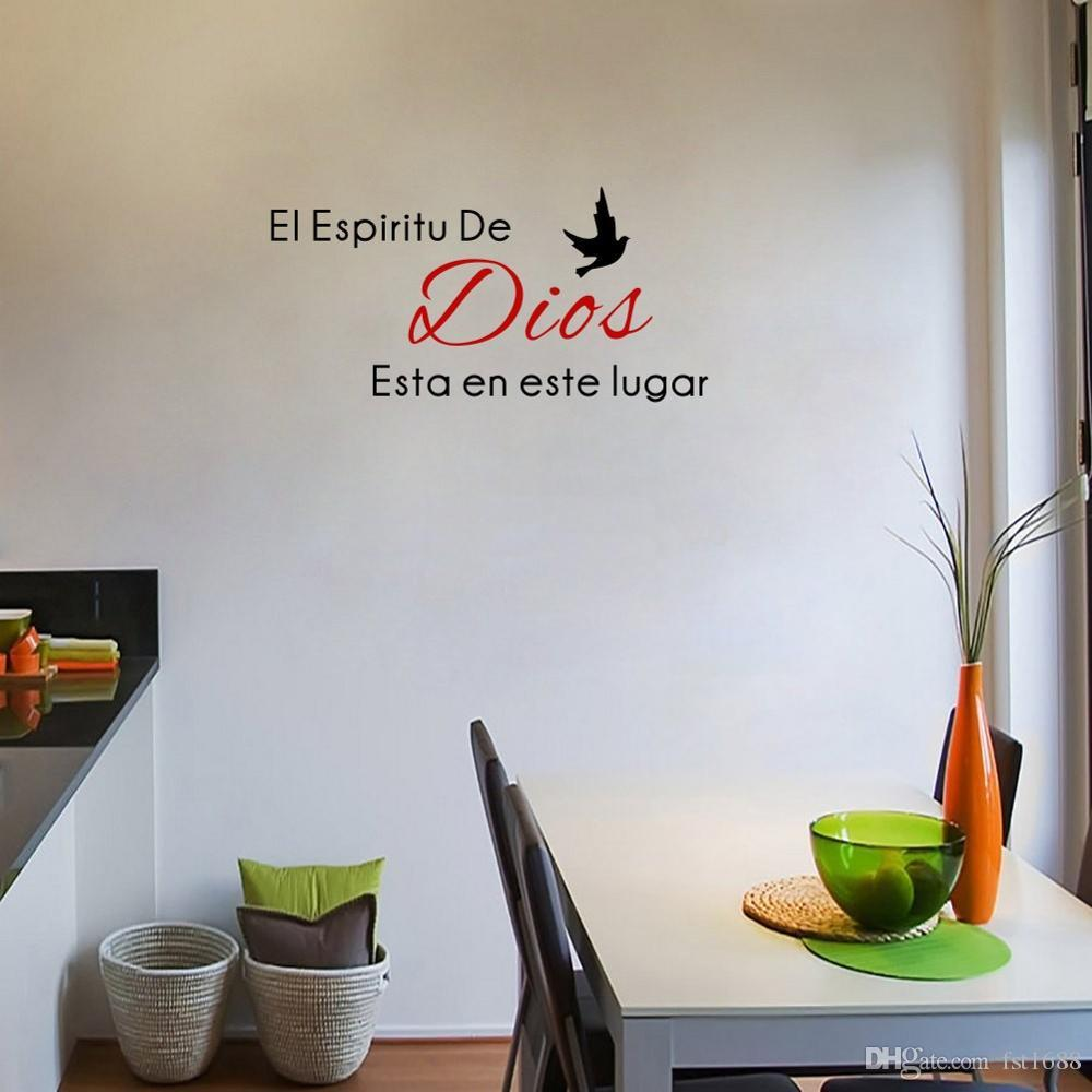 Creative Spanish Trust Thank God Quotes Christian Bless Proverbs Bible Wall  Stickers PVC Decals Living Room Mural Home Decor Canada 2019 From Fst1688,  ...