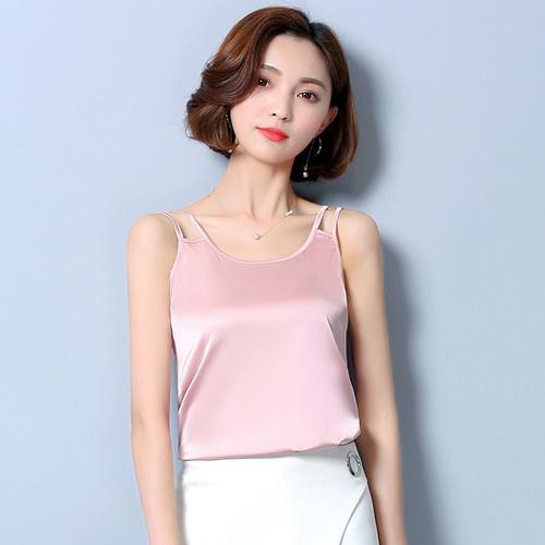 OUCAG 2018 Camis Women Lace Crop Top Velet Summer Hot Sale Tik Tok Instagram Satin Casual Plus Size White Sexy Gril Lady Model