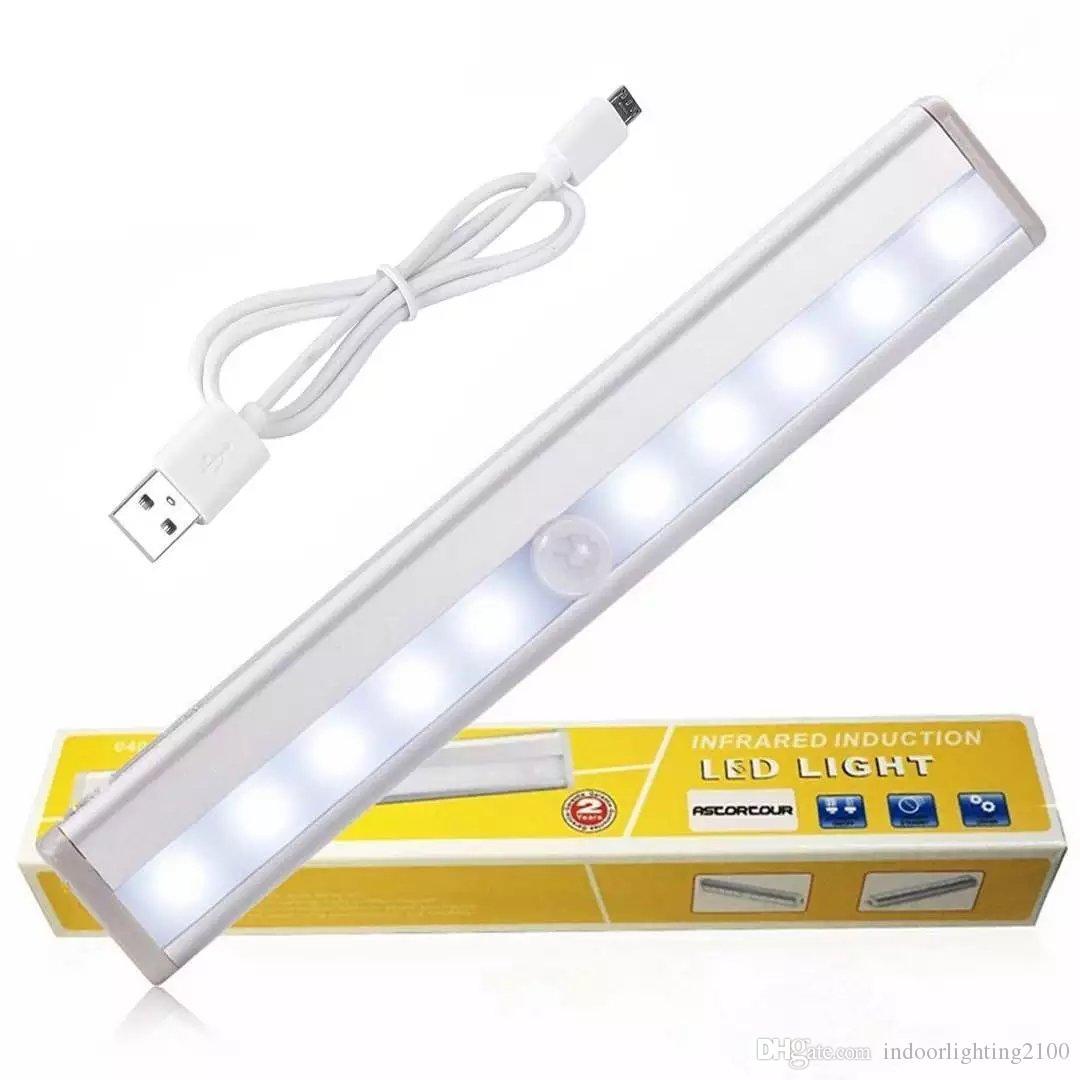 Luces USB recargable de la noche del sensor LED de la lámpara simple mueble de cocina de inducción pasillo de emergencia Luces iluminación interior