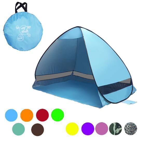 11 colores SimpleTents Easy Carry Carpas Accesorios para acampar al aire libre para 2-3 personas Carpa de protección UV para viajes de playa CCA9390 10pcs
