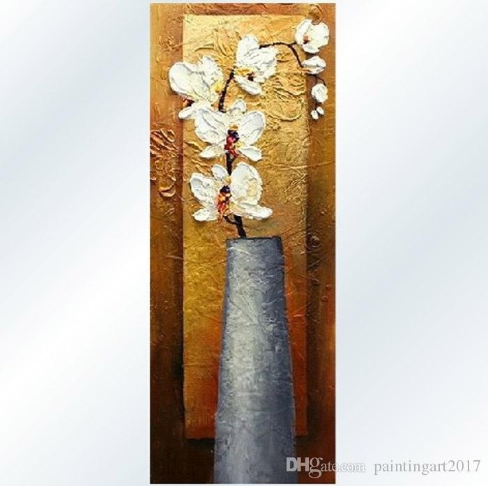 꽃의 현대 수제 중국 그림의 장식 그림 벽 그림 단일 통로의 수직 버전의 입구