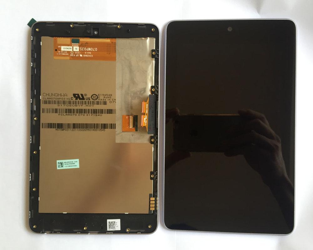 Pantalla LCD de alta calidad + Pantalla táctil digitalizadora con marco para ASUS Google Nexus 7 nexus7 2012 ME370T wifi envío gratis