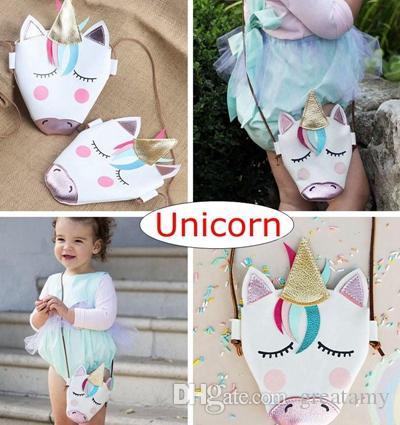 NEW Kids Girl Fashion Unicorn Shoulder Bag Lovely Cute Messenger Bags School Crossbody Bag Pouch Baby Girls Birthday Gift