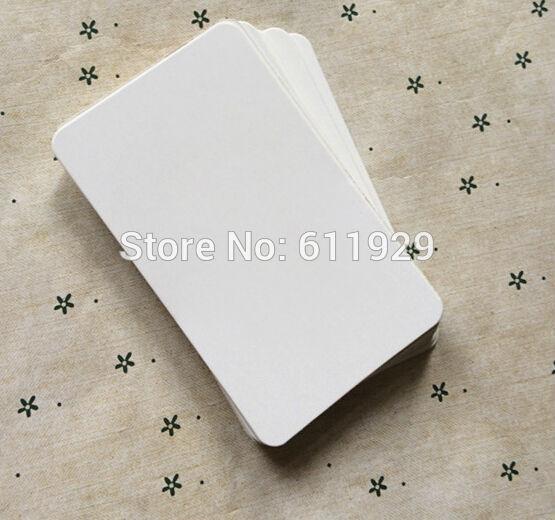 Acheter Livraison Gratuite 6x10 Cm Beaucoup 350 G M2 Vierge Papier Blanc Carte Signet Message Carte Bricolage Carte Cadeau Carte De Vœux