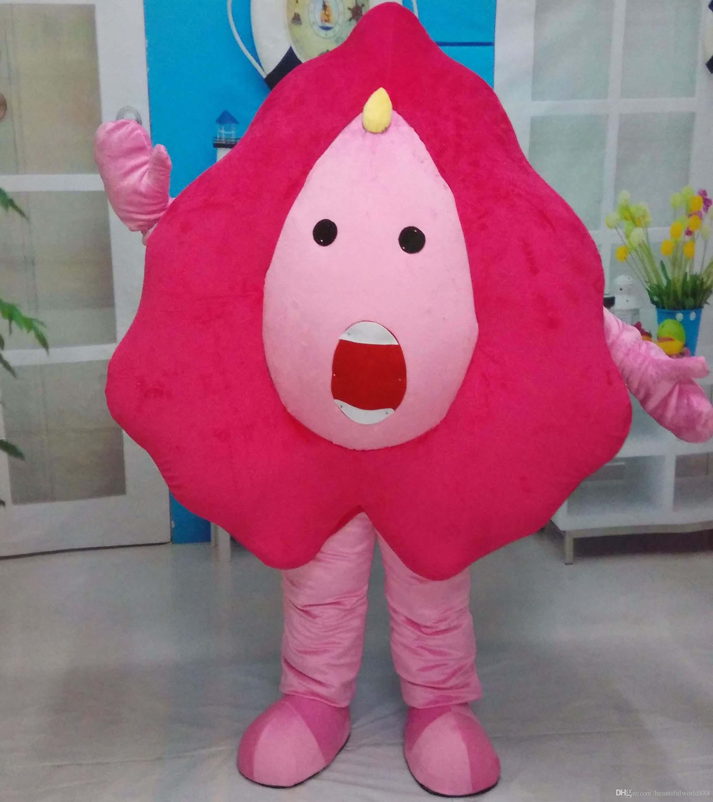 2018 High quality Good vision good Ventilation a pink doll mascot custume with a big face for sale