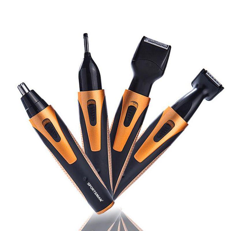 SPORTSMAN 4 In 1 Men's Electric Hair Trimmer Nose Ear Beard Eyebrow Sideburn Trimmer Clipper Shaver Razor Shaving Machine