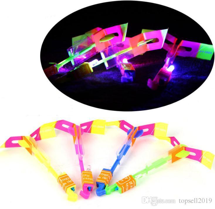 Gorąca Sprzedaż 2200 sztuk Darmowe DHL Niesamowite LED Light Arrow Rocket Helikopter Latający Zabawki Led Light Flash Baby Zabawki Party Zabawa Prezent Xmas SN675