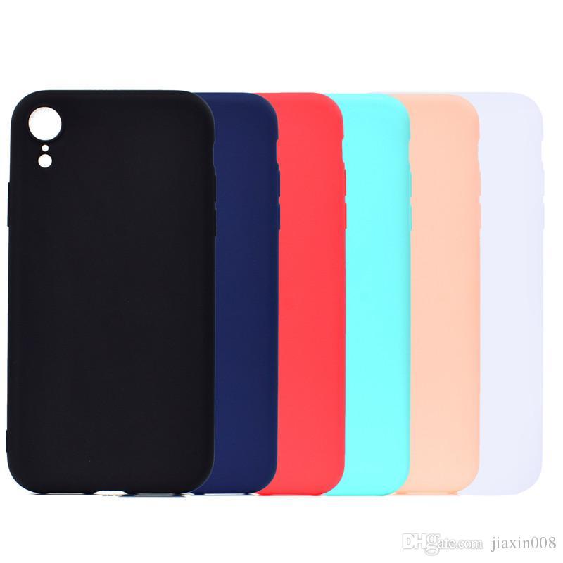 Candy farbe abdeckung für iphone xr case weiche tpu ultradünne designer mobie phone cases capinha für iphone xr 6,1 zoll