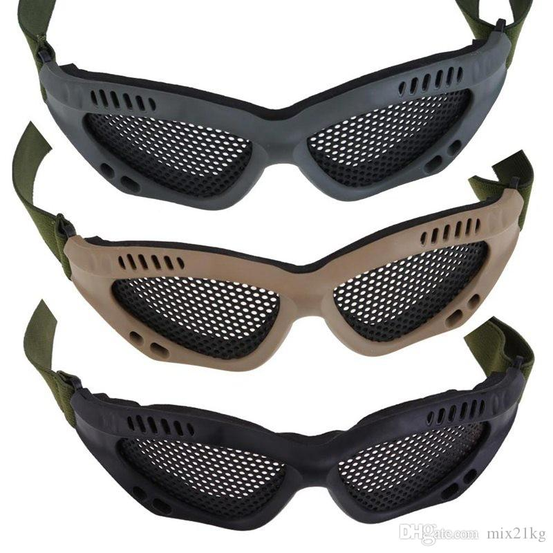 Новый Тактический Airsoft Пейнтбол Стальной Сетки Глаза Защитные Очки Очки Открытый Очки Горячие Продажа