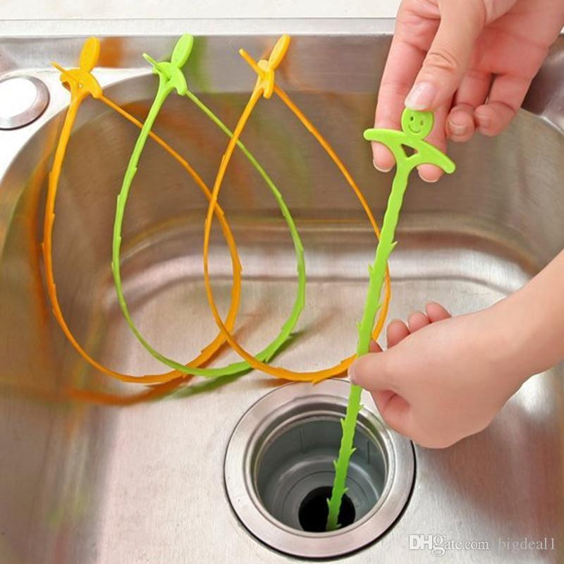 Temizleme Fırçası Lavabo temizleme kanca banyo zemin drenaj kanalizasyon araştırmak cihazı küçük araçlar Yaratıcı Ev Kanalizasyon Tuvalet Lavabo Küvet