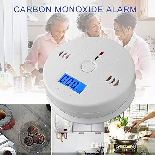 Oberoende Arbetssensor Kolmonoxiddetektor Gas Sensor CO Monitor Larm med LCD-skärm