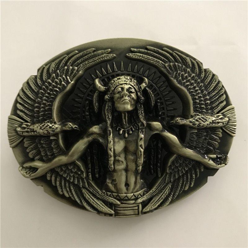 1 Pcs 3D Bronze Eagles Fivela de Cinto Ocidental Para O Homem Cinto de Cinturão Hebillas Fivelas de Cowboy Fit 4 cm Cintos Largos