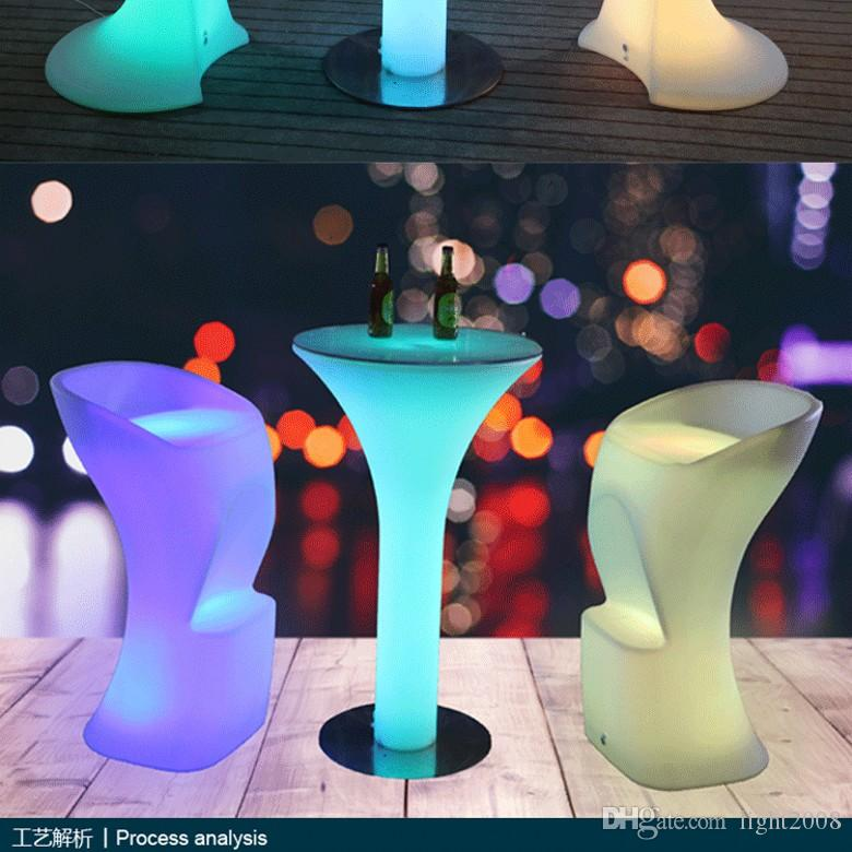 Led Table Bar Furniture 16 color Changing Lighting Bar Table For Party Event (D60*H105cm) Free Shipping