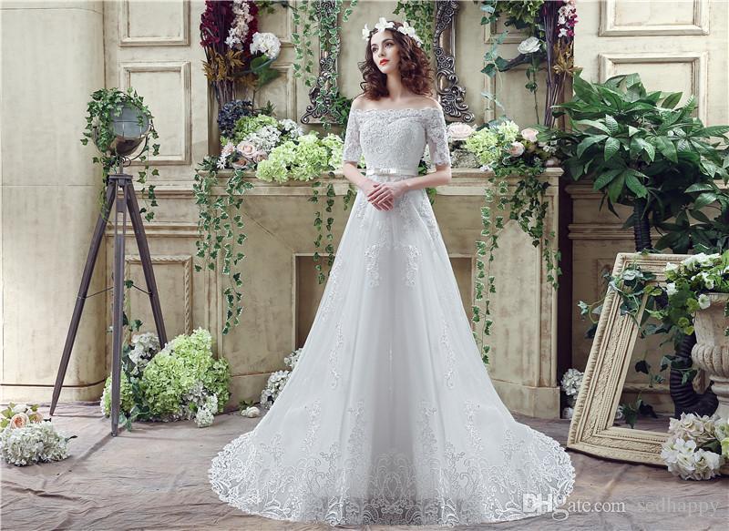 MAGGIEISAMAZING mayorista fuera del hombro expuestos deshuesado sencillo vestido vestidos de boda de la sirena baratas con CYH000033280 tren de barrido