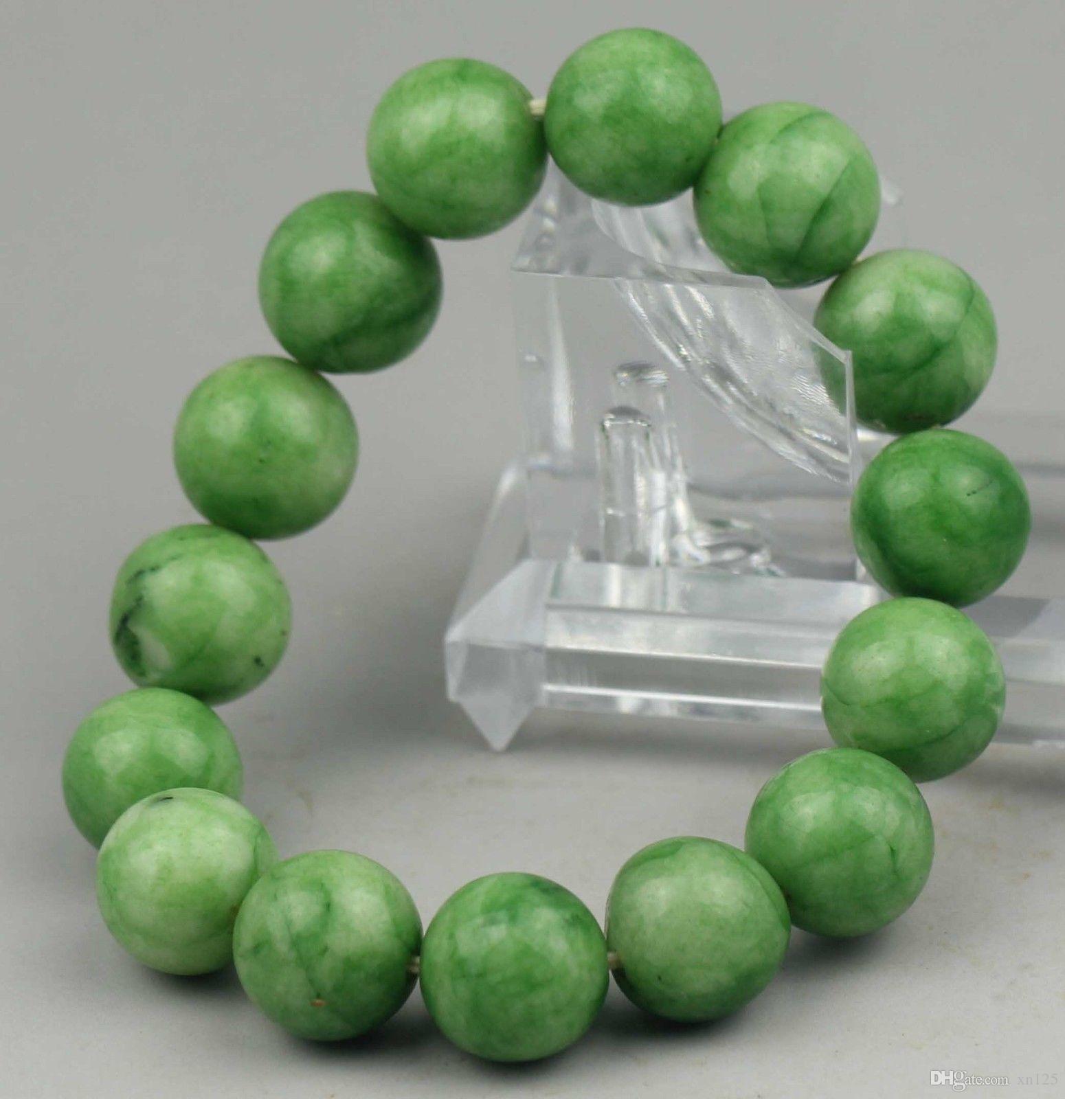 Красивый нефрит китайский натуральный нефрит бисер браслет