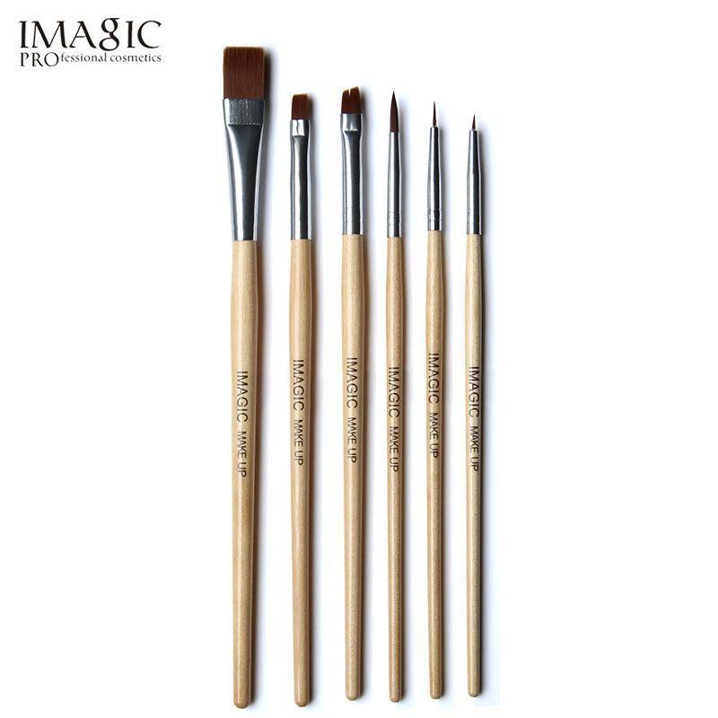 IMAGIC 6pcs/set brush painting paint brush for body and face make up brush set tools with wood handle and Kolinsky
