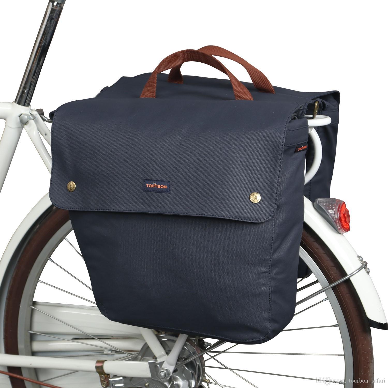 Tourbon 자전거 뒷좌석 가방 랙 트렁크 백팩 수하물 악세서리 Bike Pannier Waterproof Two Bags 23L