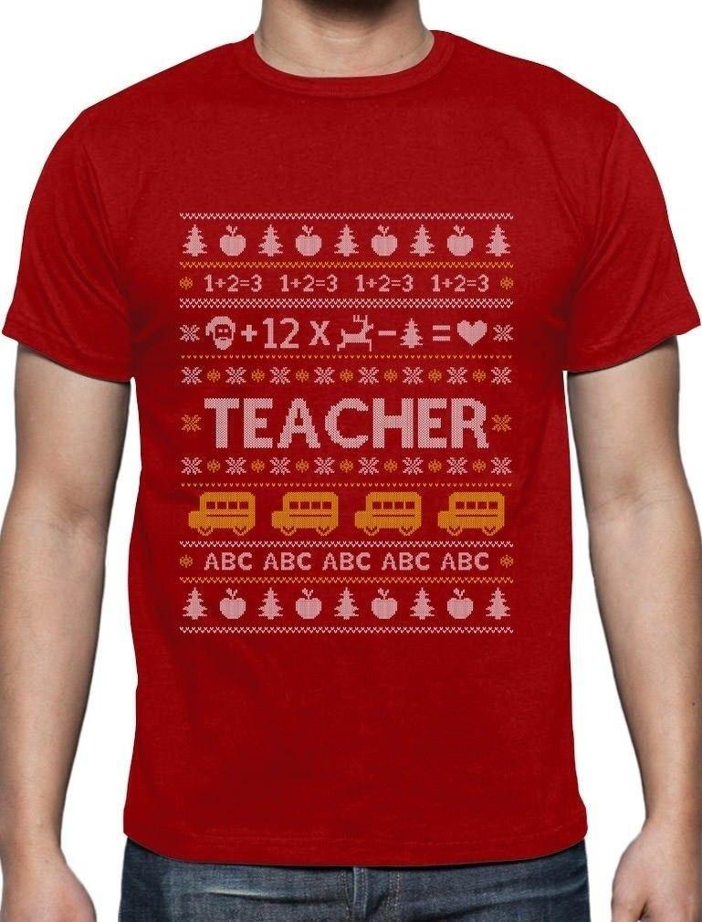 Teacher Christmas Shirts.Teacher Ugly Christmas Sweater Funny Xmas Gift For Teachers T Shirt School Buy Designer Shirts Great Tees From Alltrends Price Dhgate Com