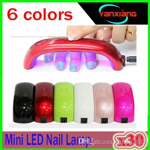 30 PZ Mini USB 9W 3 LED UV Nail Dryer Lampada di polimerizzazione Gel Nail Polish potente lampada UV Nail Polish colori secchi veloce XU-MJ-1
