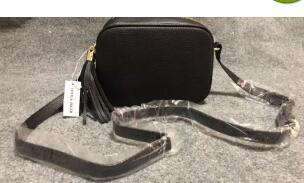 Damen Mode Tasche Schultertasche Quaste SOHO Taschen Damen Quaste Litschi Profil Damen Messenger Bag 308364 Leder # 857