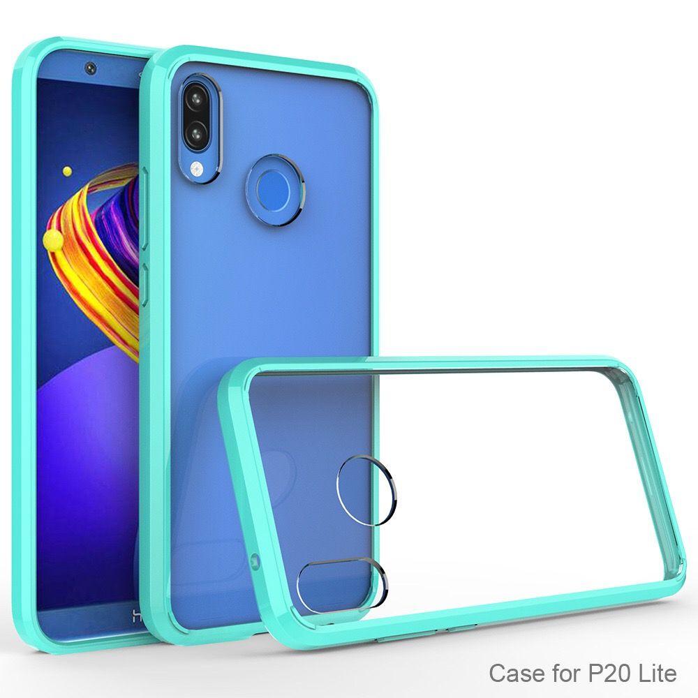 PURE KASE Huawei P20 Lite Custodia Cellulare Crystal Clear Trasparente PC Posteriore TPU Paraurti Scratch Resistant Clear Cover Huawei P20 Da ...