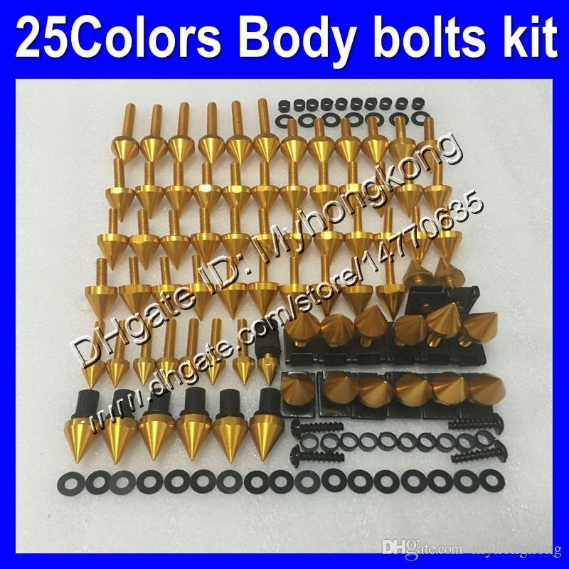 Bulloni di carenatura Kit a vite intera per Kawasaki ZX6R 07 08 ZX-6R ZX 6 R 07-08 ZX 6R ZX6R 2007 2008 07 Body Dadi Viti Doce Bolt Kit 25Colors