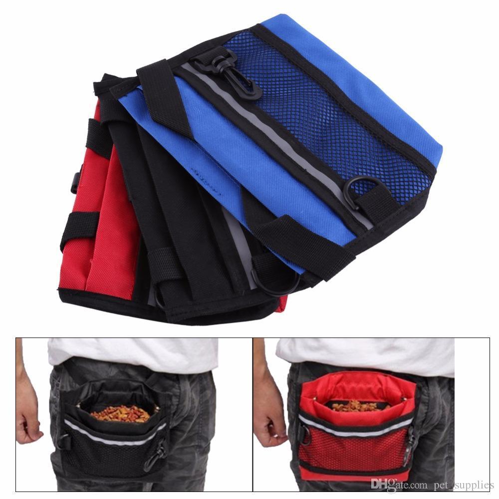 Бесплатная тренировка Pet Mesh Bait Dropshipping для лечения собака пряжка сумка щенок назовывает на основе талии мешочек с прочным поясом LJWJV