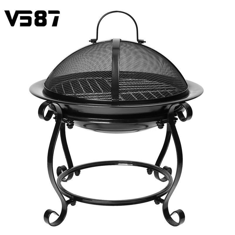 Outdoor BBQ Barbecue Portable Burner Cooker Camping Charcoal Grills Patio Fireplace Stove Kitchen Accessories Cooking Tools