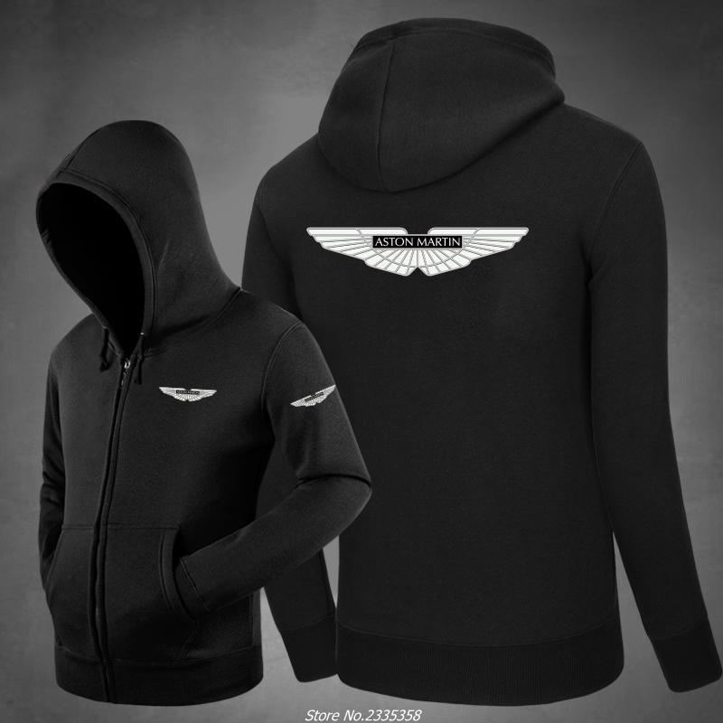 Winter aston martin zipper Sweatshirts Fashion Cotton Hoodies Printed coats Clothing casual jackets men clothing hoodies