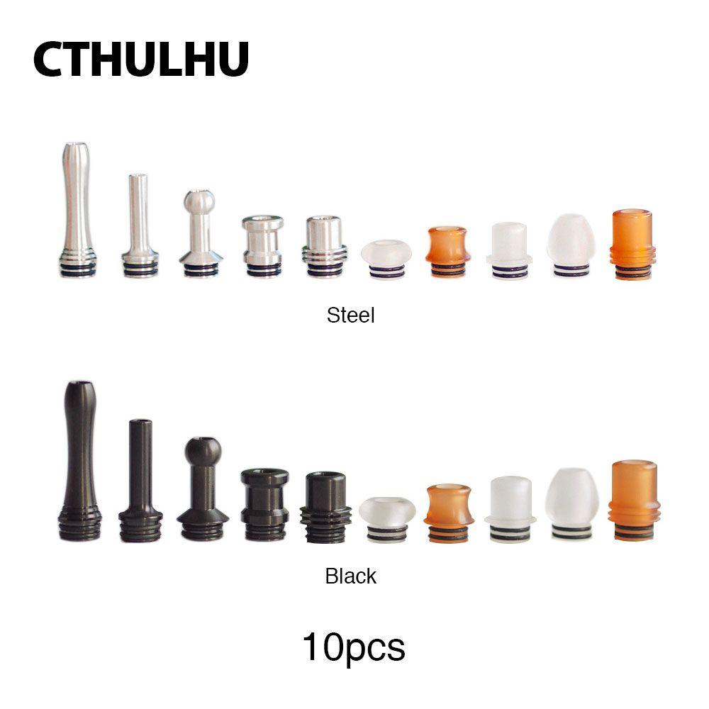 Original Cthulhu Furai 510 Drip Tip Set 10 pcs Diferentes formas 510 Bocal para A Maioria Dos Tanques Atomizadores
