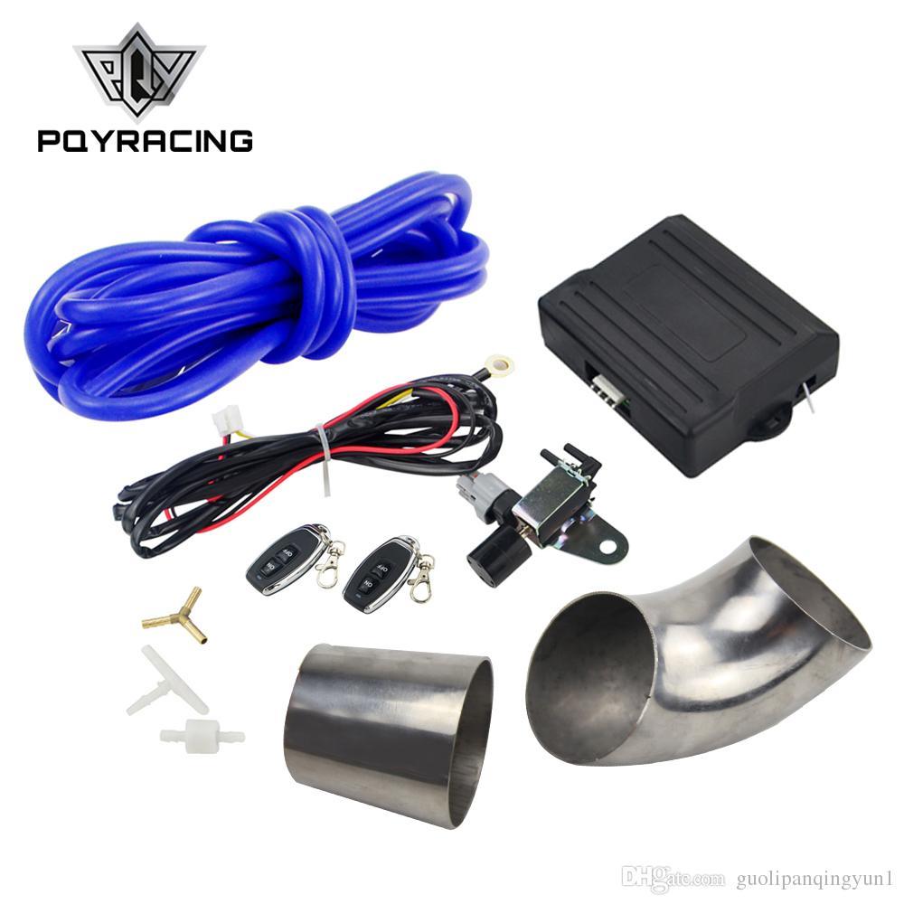 PQY RACING - Interruptor de control remoto inalámbrico de válvula de escape / corte con ID: tubo de acero inoxidable de 76 mm PQY-ECV-ACC-04