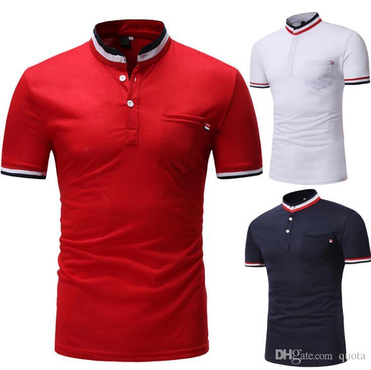 T-shirt décontracté pour homme en coton t-shirt à manches courtes