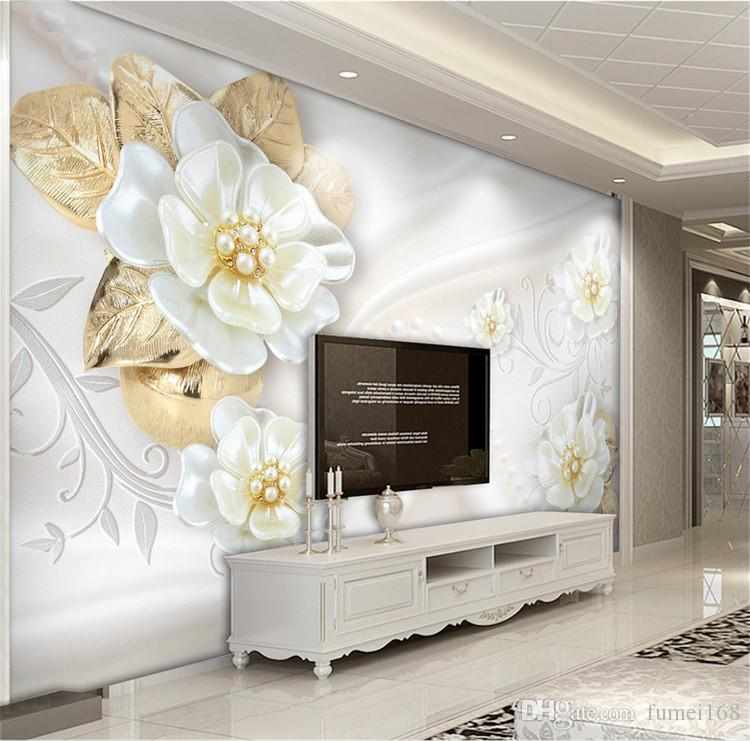 Custom Photo Wallpaper For Walls Roll 3d Embossed Flower Modern Simple Living Room Tv Background Mural Wall Papers Home Decor Cartoon Wallpapers Celebrities Wallpapers From Fumei168 16 73 Dhgate Com